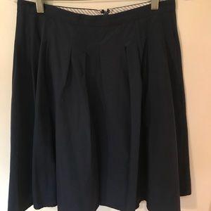 Navy Brooks Brothers Pleated Skirt